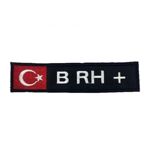 B RH (+) Pozitif Bayraklı Patches Arma Yama Peç