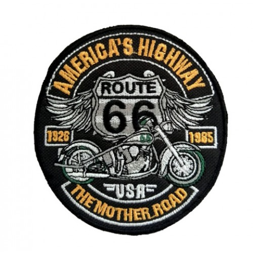 Route 66 America's Highway Patches Arma Peç Sırt Yaması