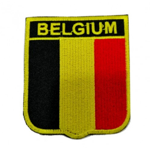 Belçika Bayraklı Patches Arma Peç Kot Yaması