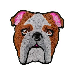 İngiliz Bulldog Köpek Patches Arma Peç Kot Yaması