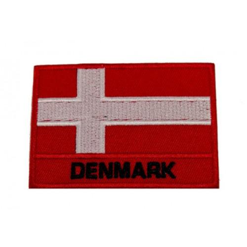 Danimarka Bayraklı Patches Arma Peç Kot Yaması