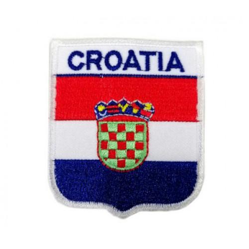 Hırvatistan Bayraklı Patches Arma Peç Kot Yaması