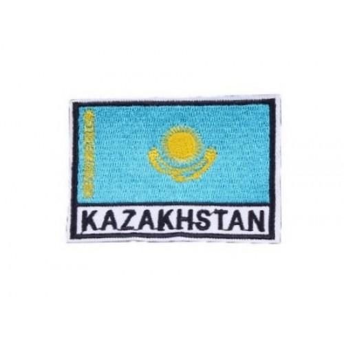 Kazakistan Bayraklı Patches Arma Peç Kot Yaması