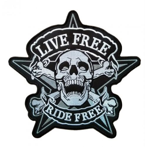 Live Free Ride Free Patches Arma Peç Sırt Yaması
