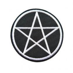 Pentagram Yıldızı Patches Arma Peç Kot Yaması