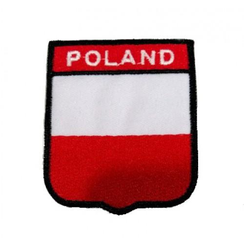 Polonya Bayraklı Patches Arma Peç Kot Yaması