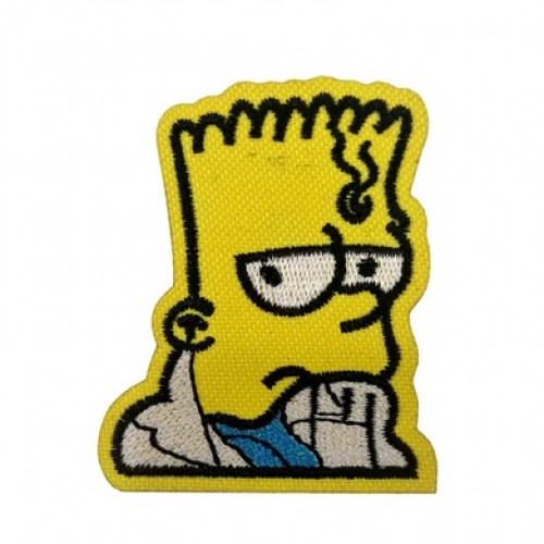 Simpsons Bart Simpson Patches Arma Peç Kot Yaması