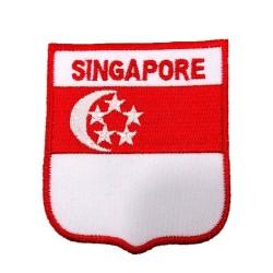 Singapur Bayraklı Patches Arma Peç Kot Yaması