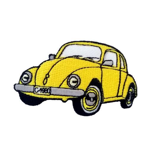 Vosvos Volkswagen Beetle Sarı Araba Patches Arma Peç Kot Yaması