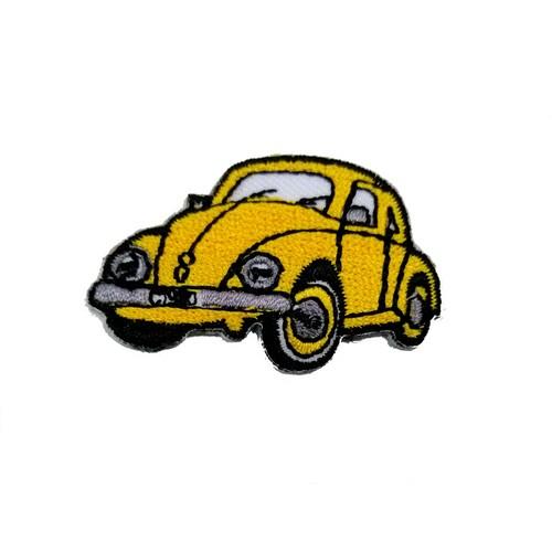 Vosvos Volkswagen Beetle Sarı Araba Küçük Boy Patches Arma Peç Kot Yaması
