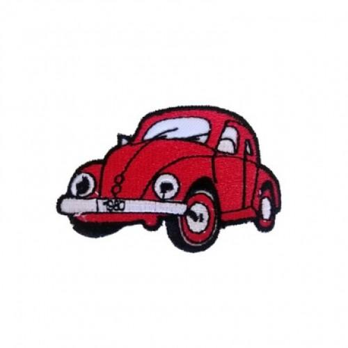 Vosvos Volkswagen Beetle Kırmızı Araba Patches Arma Kot Yaması