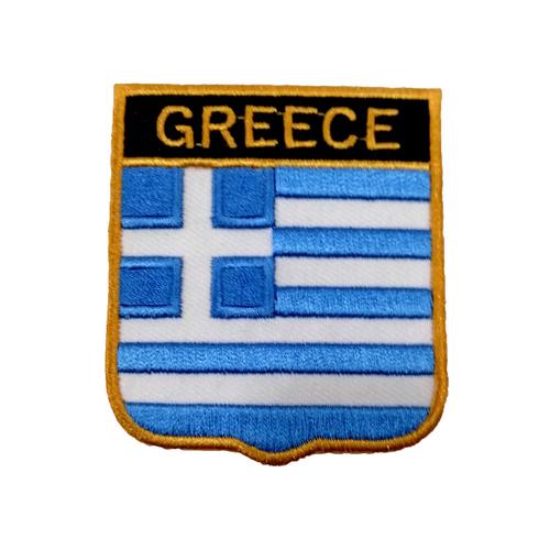 Yunanistan Bayraklı Patches Arma Peç Kot Yaması
